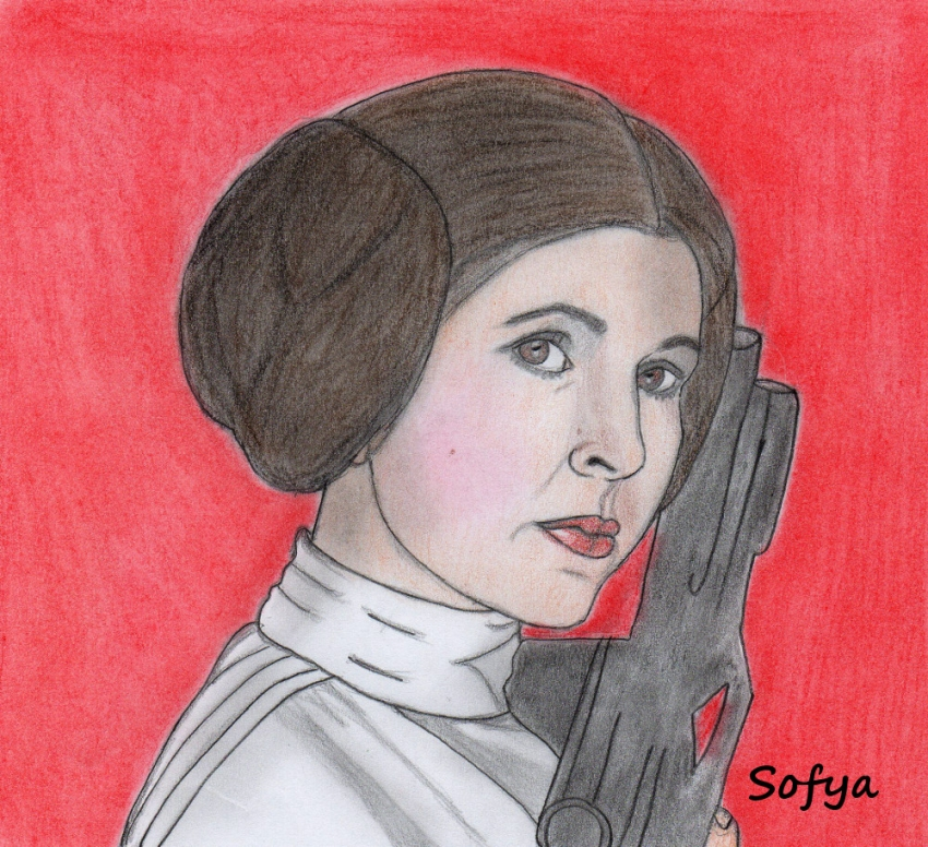 Carrie Fisher by Sofya